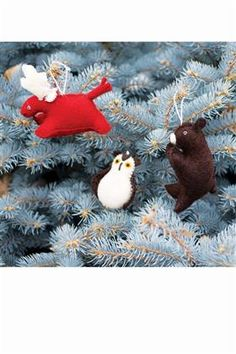 Forest Felted Animal Ornaments