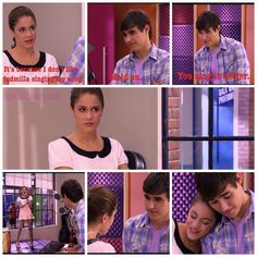 """When Violetta says """"I love you"""" to León for the first time, she does it singing! Violetta And Leon, Violetta Live, Say I Love You, My Love, Violetta Disney, Old Disney Channel, Disney Stars, Tarzan, Beautiful Smile"""
