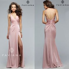 Hot item! Faviana 7755. Pre-order yours before it's sold out again! Blush, Red, Navy, and Black shipping by middle of March for $318. #miabellacouture #californiaglam #faviana #7755 #prom #prom2016