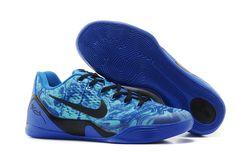 Nike Kobe 9 Low Top EM Blue with Black Newest Colorway Mens Sneakers