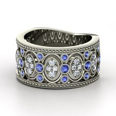 The Renaissance Band #customizable #jewelry #sapphire #diamond #gold #ring