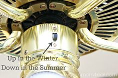 Change Ceiling Fan Direction in Winter / Summer and Save Money and Energy