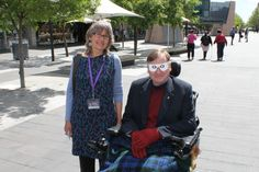 Cr Rod Campbell participates in Vision Australia's International White Cane Day event, which raises awareness of the access needs of people who are blind or have low vision on October 15, 2013.