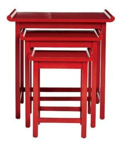 Red Chow Nesting Tables by Downtown from Profiles - ELLEDecor.com