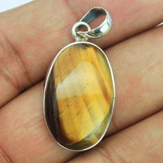 Tiger Eye Sterling Silver Pendant – Jewels Exports