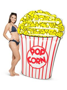 Few things make people happier than swimming pools and popcorn. This buttered movie-popcorn float gives you the best of both worlds. And at a cushy 5-feet long, it's perfect for lounging around in the