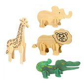 Wooden Party Bag Zoo Puzzles