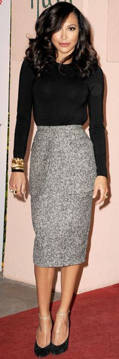 Naya Rivera in Michael Kors. I LOVE this! Perfect outfit & very me. Love her hair and makeup too<3