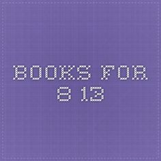 books for 8-13