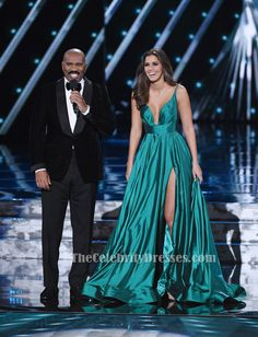 Miss Universe 2014 Paulina Vega Evening Gown 2015 Miss Universe Pageant Dress