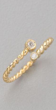so pretty!  Jacquie Aiche double diamond bezel twisted wrap walf ring