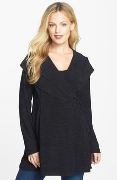 Japanese Weekend Maternity Wrap Tunic available at #Nordstrom.  Black.  Xs. Small