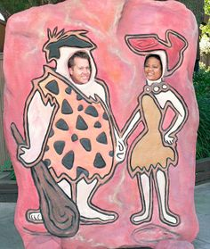 Make cardboard cutouts of popular characters to rent