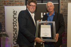Keith Allan receiving his award