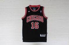 c431ac25d03 Chicago  16 Paul Gasol Black Jersey
