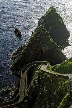 Donegal, Ireland - Atlantic Ocean WOAH! That road! I would be freaked out a bit. :P