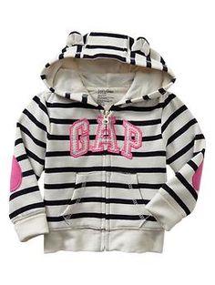Arch logo elbow-patch hoodie | Gap