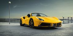 The company Novitec Rosso has released a tuning for the Ferrari 488 Spider model. A set of specially designed parts can be replaced on the model 488 GTB. Ferrari 488, Cool Sports Cars, Sport Cars, Supercars, Luxury Car Rental, 488 Gtb, Forged Wheels, Car Images, Classic Cars