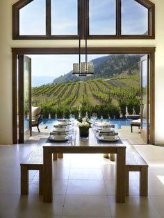 Vineyard view dining room