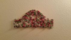 Romantic floral peg rack cottage style by GracemBoutique on Etsy
