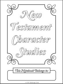 New Testament Notebook Character Study Pages