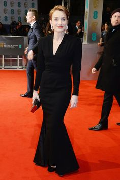 543f1a95425 Kristin Scott Thomas wore a 1948 Balmain Couture dress from WilliamVintage.  Bafta Red Carpet