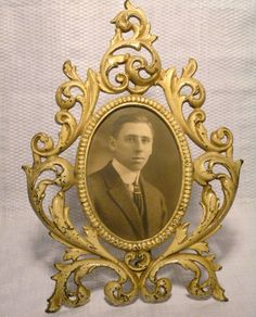 Vintage Antique Victorian Cast Iron Picture Frame by FairchildsInc, $55.00