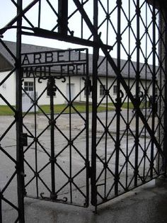 Dachau concentration camp, Dachau, Germany. It's hard to see, but important to humanity to Never Forget!