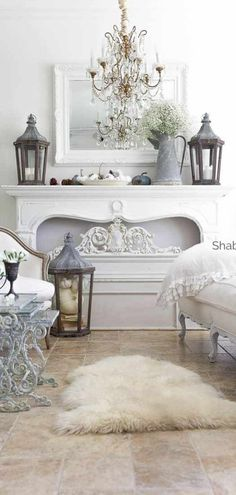 Decent alerted french country shabby chic home Repeat your order French Country Fireplace, French Country Rug, French Country Kitchens, French Country Living Room, French Country Bedrooms, French Style, French Cottage Decor, French Country Farmhouse, French Decor
