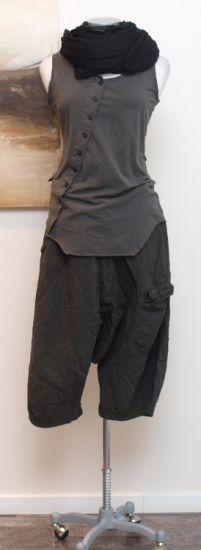 rundholz dip - Top mit Knopfleiste oil silver dust - Sommer 2014 - stilecht - mode für frauen mit format...