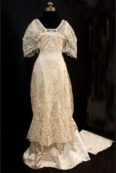 Circa 1910 Wedding dress, from Vintage Textile (archived).