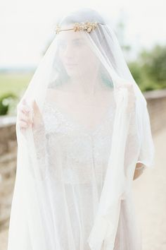 A Beautiful Way! A Lace, Soft Green & Grey Bridal Editorial...