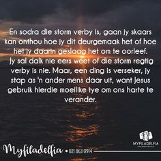 Jesus is by ons in ons moeilike tye. Mermaid Under The Sea, Afrikaans Quotes, Bible Prayers, Soul Searching, Family Quotes, Faith, Motivation, Ministry, Journals