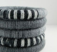 warm wool winter boho jewelry!