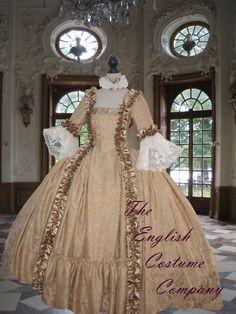 Rococo.Colonial Georgian 18thc Marie por TheEnglishCostumeCo