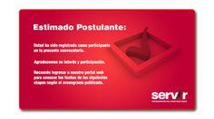 Registro de Datos Postulante - Convocatoria SERVIR