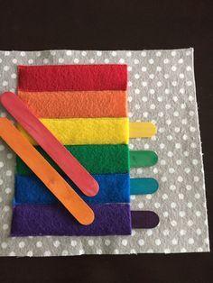 Paletas colores pega libro tranquila por HannasQuietBooks en Etsy