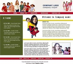 Education Plan web template and mobile website template for ...