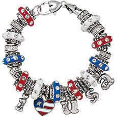 Patriotic charm bracelet from Brighton Collectibles