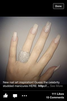 Nude nails with bling!