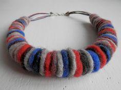 Felted Necklace  Unusual Jewelry  Felt Wool by NataliyaVisyagina