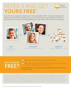 Earn your products for FREE while you lose weight. Love FREE. http://moyragorski.myshaklee.com/us/en/shaklee180.s.html $0.00 #shaklee180 #weightloss