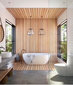 bathroom remodel tips is very important for your home. Whether you choose the upstairs bathroom remodel or wayfair bathroom, you will make the best small bathroom storage ideas for your own life. Spa Bathroom Design, Bathroom Spa, Small Bathroom, Bathroom Ideas, Spa Inspired Bathroom, Bathroom Goals, Tranquil Bathroom, Bathroom Feature Wall, Teak Bathroom