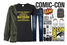 """""""off to comic-con"""" by amd2898 ❤ liked on Polyvore"""