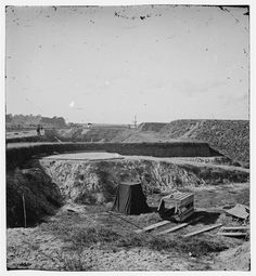 Savannah, Georgia (vicinity). View of Fort McAllister and Cooley's photographic tent  Dec 1864