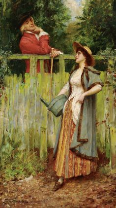 William Arthur Breakspeare (1855 - 1914) - Where are you going to, my pretty maid?