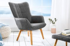 Sivé kreslo Scandinavia » » iKuchyne iSHOP s nábytkom Scandinavia Design, Grey Armchair, Sofas, Scandinavian, Solid Wood, Accent Chairs, Argos, Shabby Chic, Art Deco