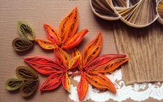 quilled fall leaves | Честит празник на младежа - де е жив и ...