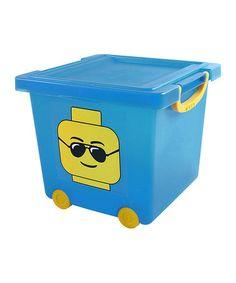 Look at this #zulilyfind! Blue LEGO Stacking Toy Basket by IRIS USA #zulilyfinds
