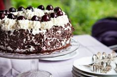 This luscious cake made from layers of dark chocolate cake, sour cherries, and cherry-flavored whipped cream uses sourdough, nourishing fats, and alternative sweeteners for an over-the-top dessert.